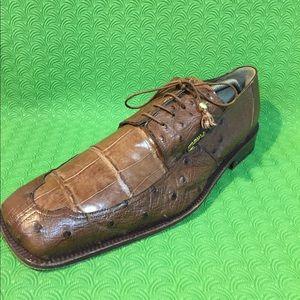 Mauri Shoes - MAURI Genuine Alligator Dress men shoe 13M Brown
